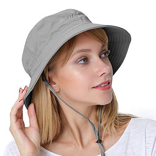 PULI Damen Sommer Fischerhüte Eimer Hut UV-Schutz Sonnenhut
