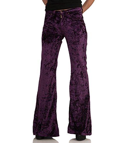COMYCOM paars fluweel bohemian hippie look