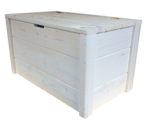 TOTAL WOOD 2012 Cassapanca Baule Contenitore Porta Legna Porta Oggetti in Legno 100x40x45 CM