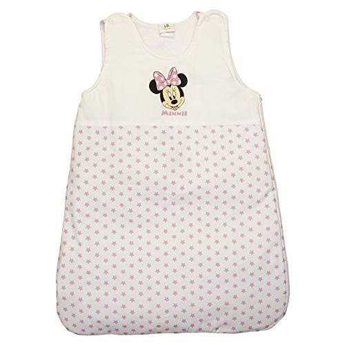 Kleines Kleid Mädchen Baby-Schlafsack ärmellos aus Baumwolle, GEFÜTTERT mit Minnie Mouse Motiv, GRÖSSE 56-62, 68-74, 80-86, 92-98, 104-110, Reiß-Verschluss, Druckknöpfe Farbe Modell 1, Größe 68/74