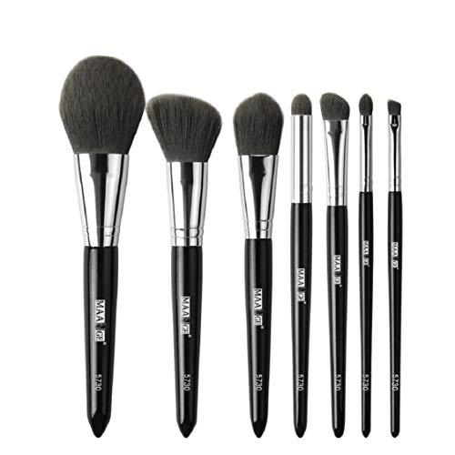 Koojawind Premium Maquillage Pinceau SynthéTique Kabuki Fond De Teint Ombre À PaupièRes CosméTique En Bois De Maquillage Blending Blush Eyeliner Pinceau Pinceaux De Maquillage (7Pcs Noir)