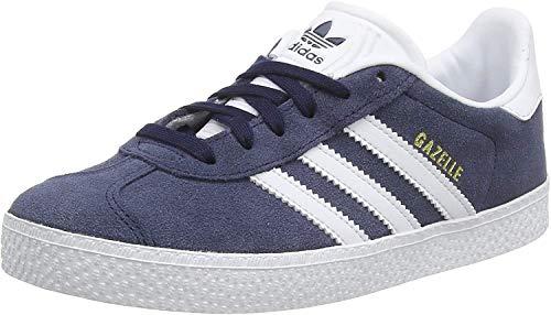 adidas Gazelle Unisex Kids Low-Top Sneakers, Blue (Collegiate Navy/Footwear White/Footwear White),5 UK (38 EU)