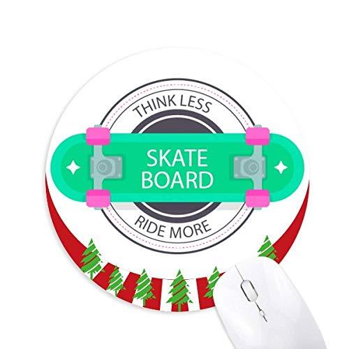 Winter Sport Skateboard Cartoon Pattern Round Rubber Maus Pad Weihnachtsdekoration