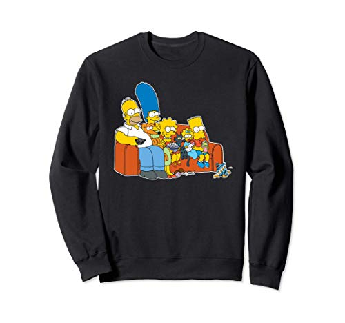 The Simpsons Homer Marge Maggie Bart Lisa Simpson Couch Sudadera