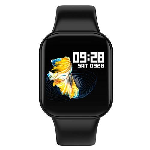 Reloj inteligente,CHshe,Smart Watch Sports Fitness Activity Heart Rate Tracker,Reloj de presión arterial,Diseño de moda y correa ajustable,Monitor de sueño y alarma