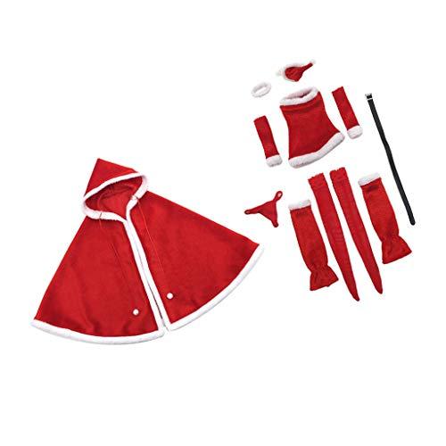 Blesiya 1/6 Schaal Dames / Heren Jas + Dames Kerstkleding voor 12