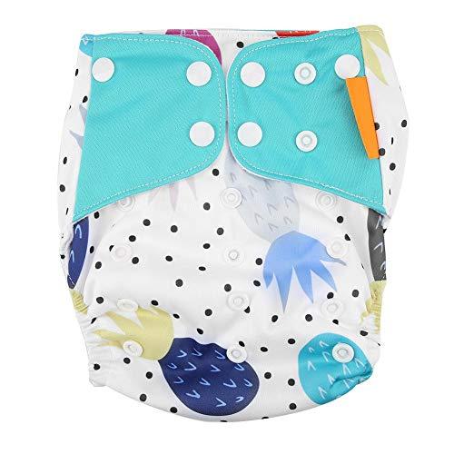 4 pcs/ensemble Baby Diaper Cover Étanche Snap Nouveau-Né Lavable Réutilisable Nappy Cover Infant Vêtements Vêtements Taille Réglable(E)