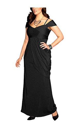 M.I.M. Damen-Kleid Abendkleid Schwarz Größe 42