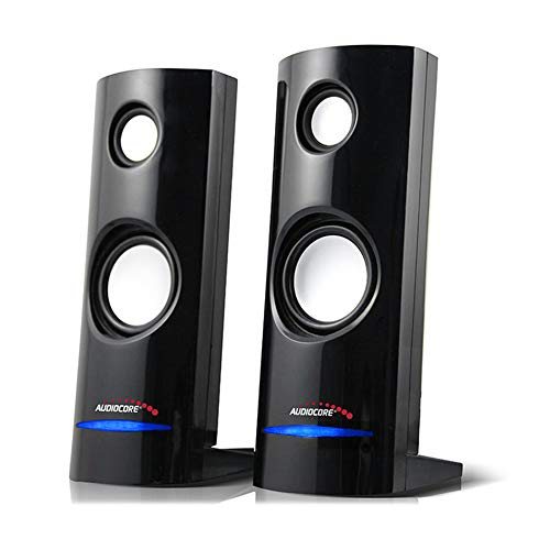 Audiocore AC860 8W 3.5mm USB Portable Bookshelf Speaker Set PC/Laptop/Tablet