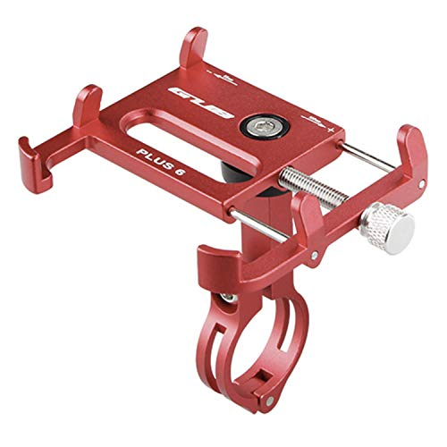 GUB Bike Phone Holder Mount - Metal Motorcycle Phone Mount, Unbreakable 360° Rotation Adjustable Bicycle Phone Holder for iPhone 12 Pro Max 12 Galaxy 21 Red