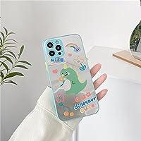 肌のミラーは、For iPhone 11pro max/XS/8P ハードシェルタイドと互換性があり、For Apple 12の携帯電話ケース仕上げと互換性があります-MY3[肤感镜面]彩虹恐龙-iPhone7/8plus