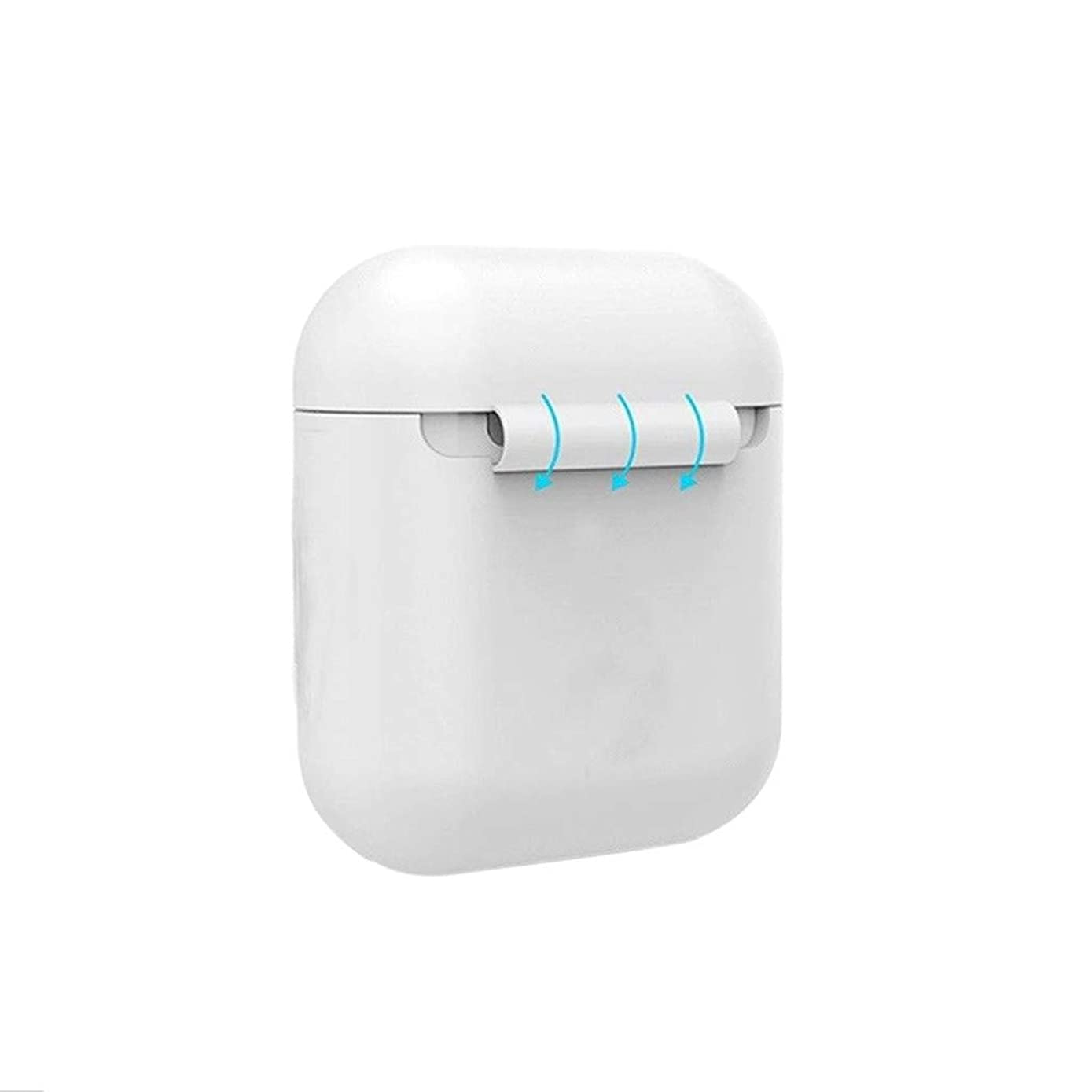 Islandse????Luminous Silicone Case for Air Pods Headphone Protection Cover for Apple AirPods White