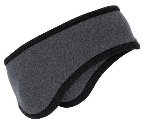 Port Authority® Two-Color Fleece Headband. C916 Midnight Heather OSFA