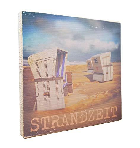elbPLANKE - Strandzeit | 20x20 cm | Holzbilder von Fotoart-Hamburg | 100% Handmade