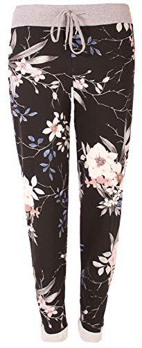 stylx Damen Jogginghose Sweatpants Größe 34-50 mit Print (J21, 48-50)