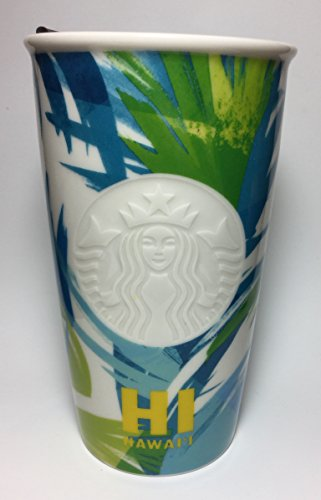 Starbucks 2016 Dot Collection Hawaii Limited Ceramic Travel Tumbler / Mug