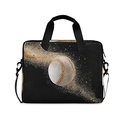 JNlover Sport-Ball-Baseball-Laptoptasche 40,6 cm (16 Zoll), tragbare Hülse, Aktentasche, Laptoptasche, Notebook-Computer, Tragetasche für Damen und Herren