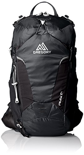 Gregory Mountain Products Miwok 24 Liter Men's Daypack, Storm Black, One Size