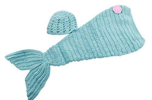 DELEY Bebé de la Princesa de Las Niñas Crochet Cosplay Cola de Sirena de Vestuario Infantil Ropa Traje de la Foto Puntales de 0-6 Meses