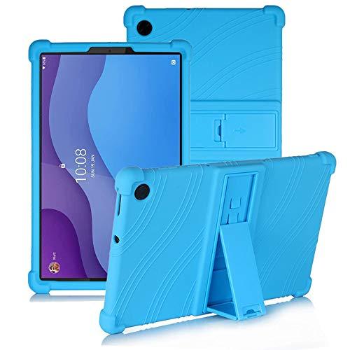YGoal Funda para Lenovo Tab M10 HD 2nd Gen - Cubierta Protectora a Prueba de choques Suaves para niños de Peso liviano Silicona Case Cover para Lenovo Tab M10 HD 2 TB-X306X/X306F, Azul
