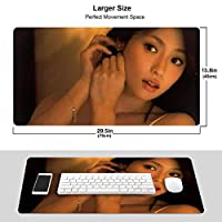 深田恭子 マウスパッド 光学マウス対応 パソコン 周辺機器 超大型 防水 洗える 滑り止め 高級感 耐久性が良い 40*75cm