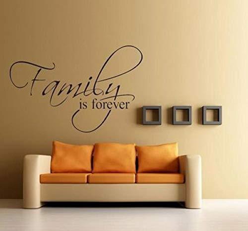 Een generatie afneembare muurstickers, gesneden, de familie is in posters, Engelse ruiten, afneembaar, wanddecoratie, 45 x 28 cm