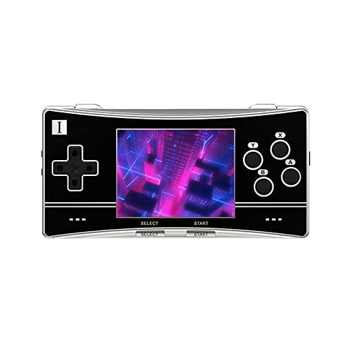 GDZTBS Consola de juegos portátil RG300X, retro, pantalla IPS de 3,0 pulgadas, reproductor de videojuegos, compatible con PS1, consola portátil (16 + 64 G, negro)