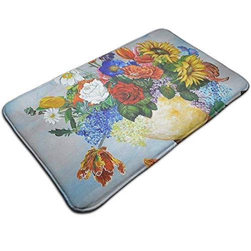N/A Potplanten in olieverfschilderij druk deurmat badmat ingangmat vloermat tapijt binnen- / buiten- / badkamermatten