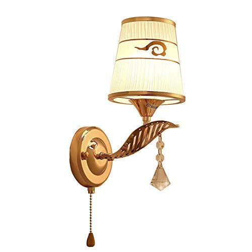 Amkoc Aplique con interruptor de cristal moderno con pantalla LED lámpara de mesilla de noche, para dormitorio, entrepiso, terraza, restaurante, cafetería, sala de estar y estudio E27