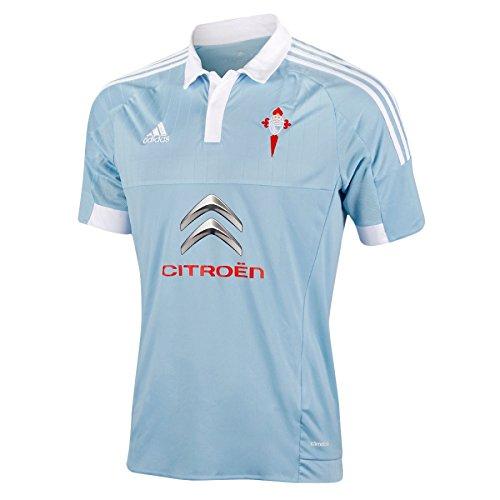 adidas Celta Home JSY Camiseta, Hombre, Azul/Plata/Blanco/Rojo, 116