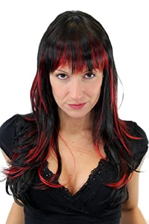 Kurze haare mit roten strähnchen