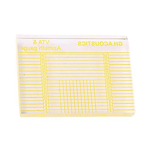 LIXBD Vta Azimut-Lineal LP Vinyl-Schallplattenspieler, Tonarm-Patrone zur Höhenausrichtung, Lineal, Headshell-Block (Farbe: gelb)
