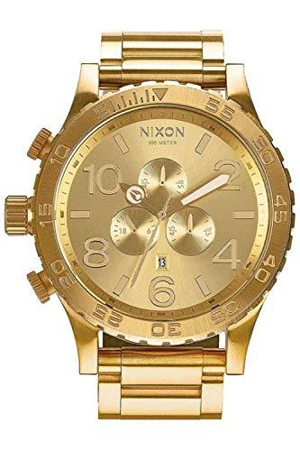 Nixon 51/30 Reloj para Hombre Analógico de Cuarzo con Brazalete de Acero Inoxidable bañado en Oro A083502
