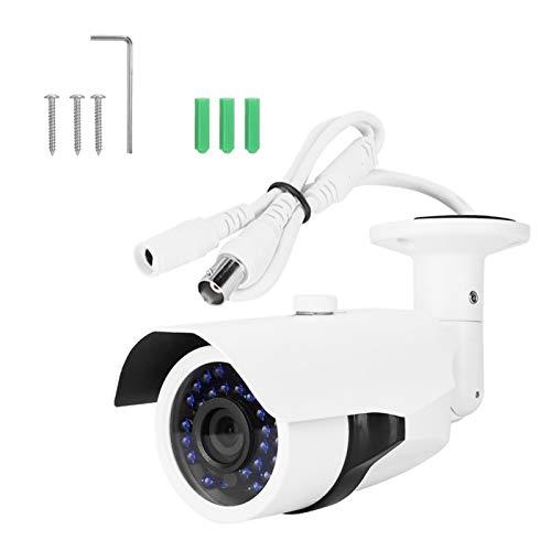 DAUERHAFT Aleación de Aluminio Blanca de Baja Potencia de la cámara de Seguridad de la Prenda Impermeable de la cámara del IR de la Seguridad de 1080p HD(PAL Format)