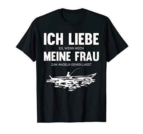 Angler Angeln Fischer Angelbekleidung Angelrute Spruch T-Shirt