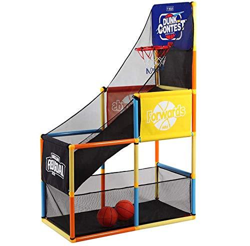 WANJIA Soporte de Baloncesto Juguetes de Interior para niños, Juego de Baloncesto con Sistema de Entrenamiento de aro Juguetes Deportivos de Interior Diversión y Entretenimiento para niños, ni