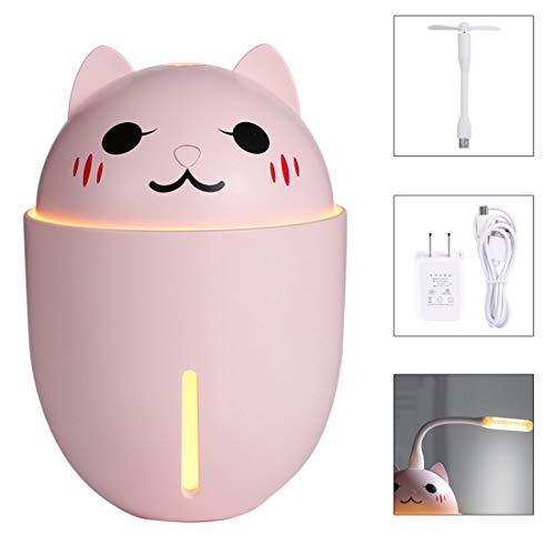 Gmjay Mini Draagbare Ventilator Persoonlijke Handheld Spray Luchtbevochtiger met USB Oplaadbare Batterijen voor Thuis Slaapkamer Kantoor en Reizen