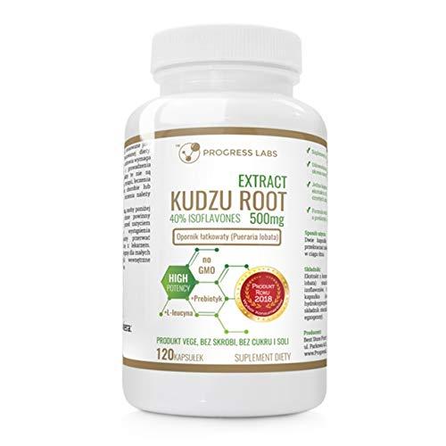 Progress Labs Kudzu Root Extract 120 Kapseln Isoflavone Kudzu Wurzelextrakt Antioxidans