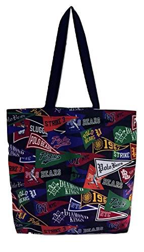 Polo Ralph Lauren Pennant Cotton Tote Bag, Black