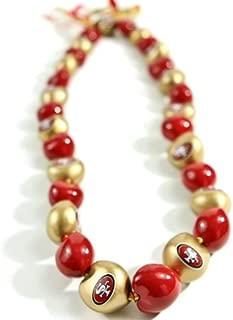 NFL San Francisco 49ers Go Nuts Kukui Nut Lei Necklace