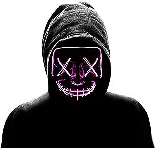 ArtLock Halloween Masks Horror LED Lights Up Masks for Horror Party Cosplay Decoration