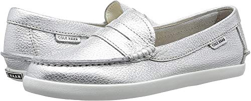 Cole Haan Damen Pinch Weekender Loafer Slipper, Silber (Argento Metallic Leather Argento MTLC), 39 EU