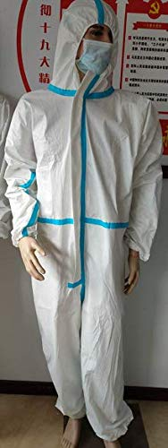 ZK Medical Medizinische Einweg-Schutzanzüge, Nicht Steril, Größe L, 170 cm (Packung mit 40 Stück)