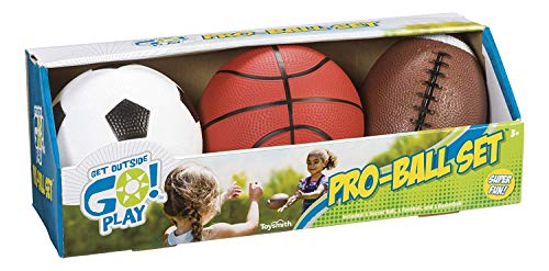 Toysmith Get Outside GO! Pro-Ball Set, Pack of 3 (5-inch...
