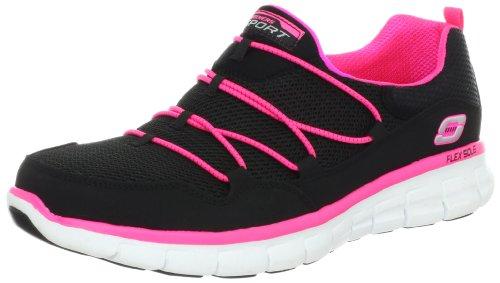 Skechers Synergy Loving Life Damen Sneaker, Schwarz - Schwarz Hot Pink - Größe: 36.5 EU