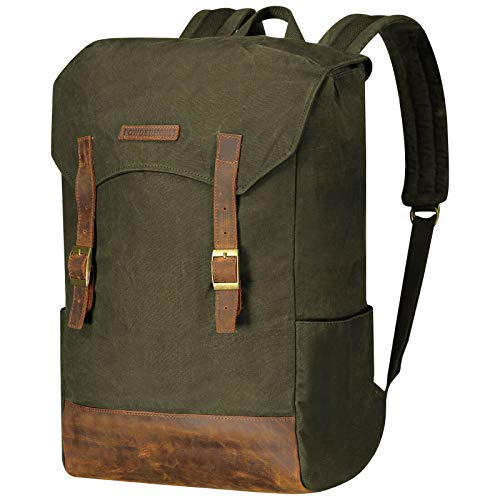 Powderhorn Backpack Retro Rucksack Leder Vintage Daypack Laptopfach