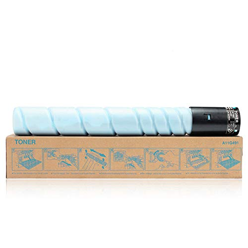 Adecuado paraEl cartucho de tóner original Tn514 es compatible con Konica Minolta para Konica Minolta Bizhub C458c558c658 copiadora, consumibles originales de 4 colores-blue