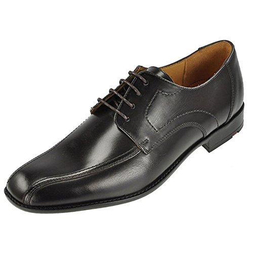 LLOYD Herrenschuh GAMON, klassischer Business-Halbschuh aus Leder mit Gummisohle, Schwarz (SCHWARZ 0), 44