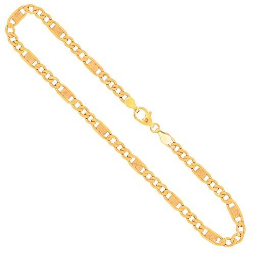 Goldkette, Fantasiekette Gelbgold 333/8 K, Länge 45 cm, Breite 5.2 mm, Gewicht ca. 8.8 g, NEU