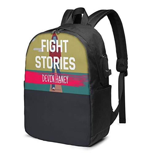 IUBBKI Bolsa para computadora mochila USB D-E-Vin Ha-Ney 17 Inch Laptop Backpack For Men & Women,Travel/School Backpack With Usb Charging Port & Headphone Interface